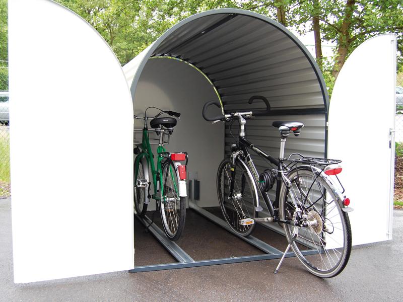 fahrradgarage bikebox 3 duo f 2 fahrr der. Black Bedroom Furniture Sets. Home Design Ideas