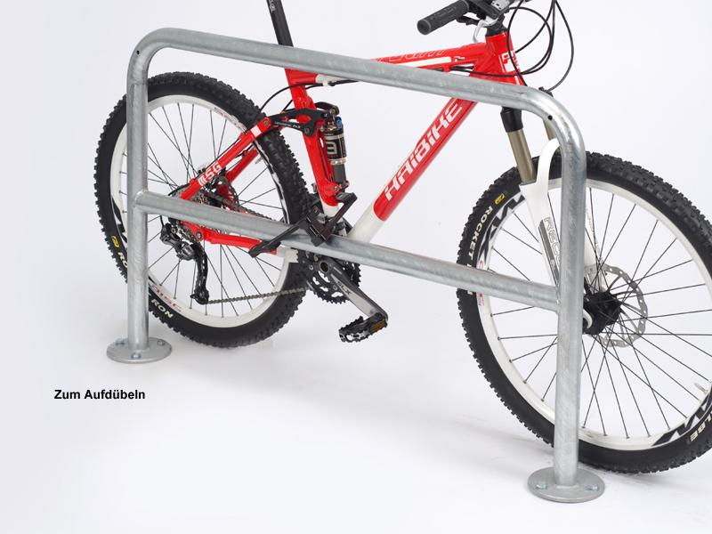 Fahrrad Anlehnbügel 9820 1000mm zum EinbetonierenFahrradständerfür Außen