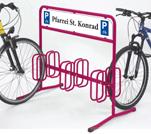 fahrradst nder mit werbefl che fahrradparker dw 3006. Black Bedroom Furniture Sets. Home Design Ideas